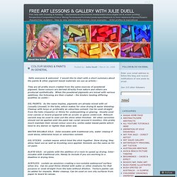 FREE ART LESSONS & GALLERY WITH JULIE DUELL