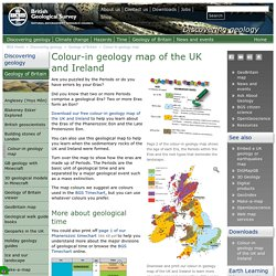 Colour-in geology map of the UK and Ireland