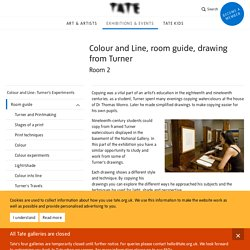 Colour and Line, room guide, drawing from Turner: Room 2