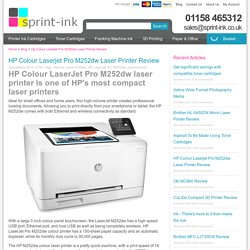 HP Colour Laserjet Pro M252dw Laser Printer Review
