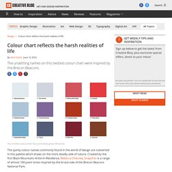 Colour chart reflects the harsh realities of life