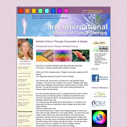 Colour Therapy Study Courses, Colour Therapy Home Study