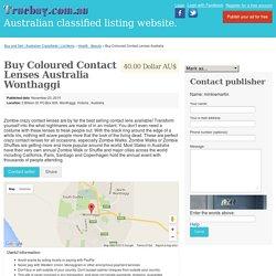 Buy Coloured Contact Lenses Australia Wonthaggi