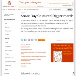 Anzac Day Coloured Digger march - Creative Spirits