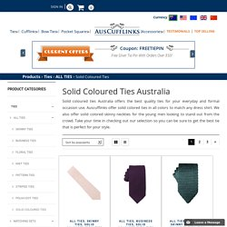 Solid Coloured Ties Australia