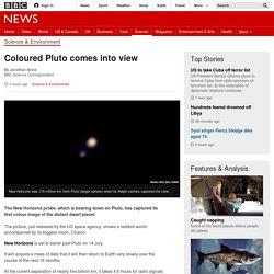 Coloured Pluto comes into view - BBC News