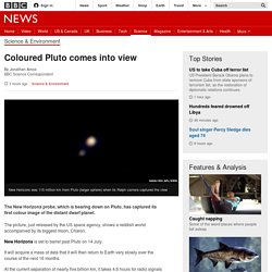 Coloured Pluto comes into view - BBC News