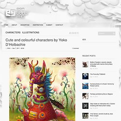 Cute and colourful characters by Yoko D'Holbachie