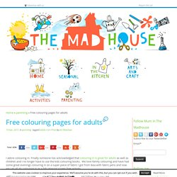 Free colouring pages for adults - Mum In The Madhouse- Mum In The Madhouse