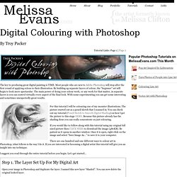 Digital Colouring with Photoshop -Photoshop Tutorial by Troy Packer