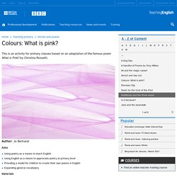 Colours: What is pink?