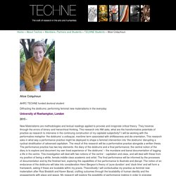 Colquhoun - TECHNE AHRC Doctoral Training Partnership