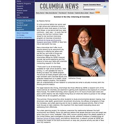 Summer in the City: Interning at Columbia