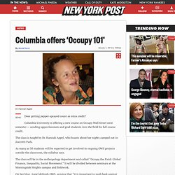 Columbia offers 'Occupy 101' - m.NYPOST.com