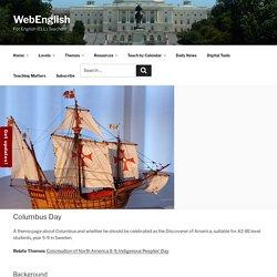 Columbus Day – WebEnglish.se