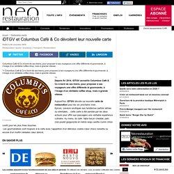 iDTGV et Columbus Café & Co dévoilent leur nouvelle carte