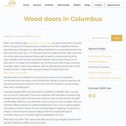 Wood doors in Columbus
