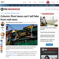 Column: Most teens can't tell fake from real news
