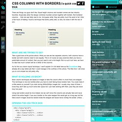 css columns with borders - onderhond blog