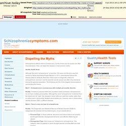Schizophreniasymptoms.com - Dispelling the Myths