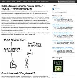 """Guida all'uso del comando """"Esegui come…"""" – """"RunAs…"""" command userguide"""