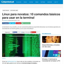 10 comandos básicos para usar en la terminal de Linux