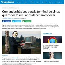 Comandos para Linux que todos deberían conocer