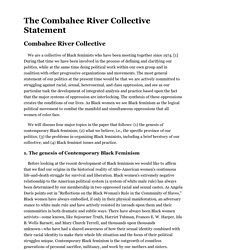 The Combahee River Collective Statement
