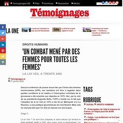 """""""Un combat mené par des femmes pour toutes les femmes"""" - Droits humains"""