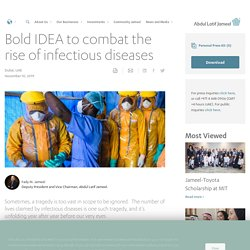Bold IDEA to combat the rise of infectious diseases
