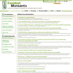 Combat Monsanto - Inflitration de l'adminsitration