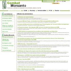 Combat Monsanto - Inflitration de l'adminsitration