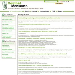 Combat Monsanto - Biopiraterie et brevetage