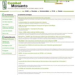 Combat Monsanto - Corruption de la Recherche