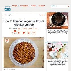 How to Combat Soggy Pie Crusts With Epsom Salt