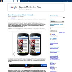 Combating accidental clicks in mobile ads