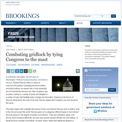 Combating gridlock by tying Congress to the mast