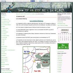 Les combats d'Esternay - Béthune- les 73e RI - 273e RI - le 6e RIT