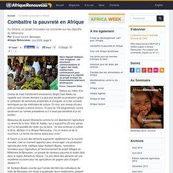 Combattre la pauvreté en Afrique
