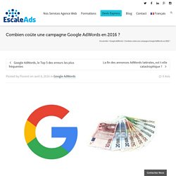 Combien coûte une campagne Google AdWords en 2016 ? - Escale Ads