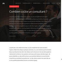 Combien coûte un consultant ?