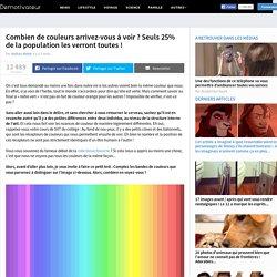 Combien de couleurs arrivez-vous à voir ? Seuls 25% de la population les verront toutes !