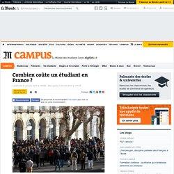 Combien coûte un étudiant en France?