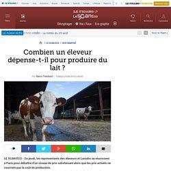 Combien un éleveur dépense-t-il pour produire du lait ?