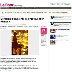 Combien d'étudiants se prostituent en France? - LePost.fr (18:37)