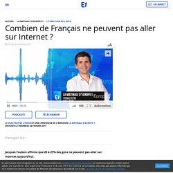 Combien de Français ne peuvent pas aller sur Internet ?