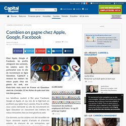 Combien on gagne chez Apple, Google, Facebook
