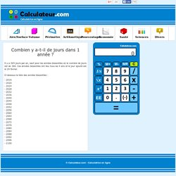 Calculatrice en ligne pour des calculs courants