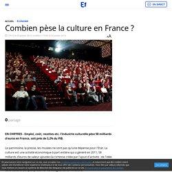 Combien pèse la culture en France ?
