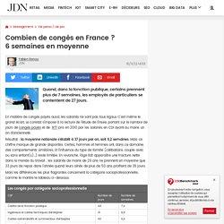 Combien de congés en France? 6semaines en moyenne